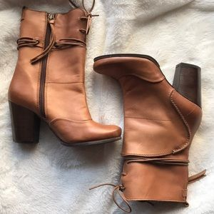 Shoes - REAL LEATHER BROWN BOOTIES👢